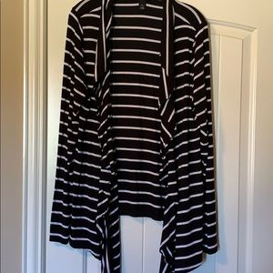 WHBM Striped Rayon/Spandex Top